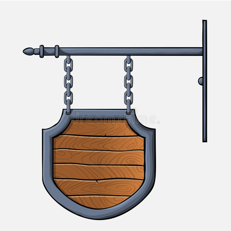 Muestra de madera medieval libre illustration