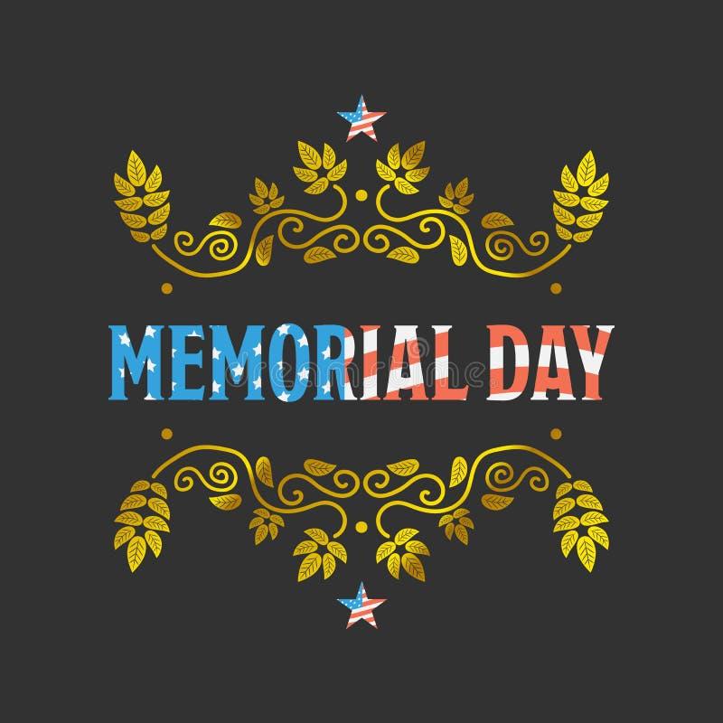 Muestra de Memorial Day ilustración del vector