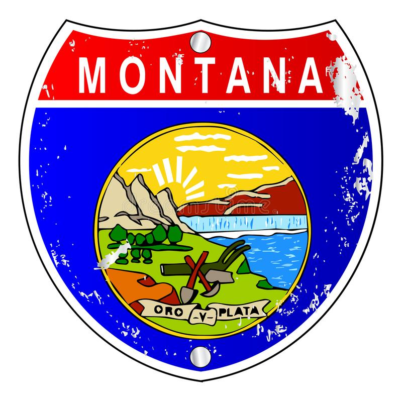 Muestra de Montana Flag Icons As Interstate libre illustration