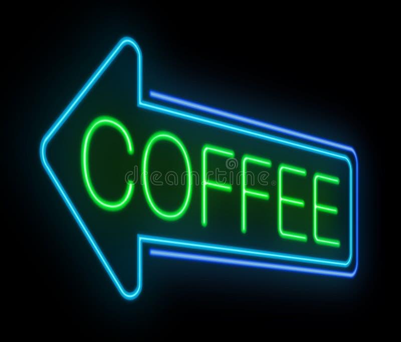 Muestra de neón del café. libre illustration