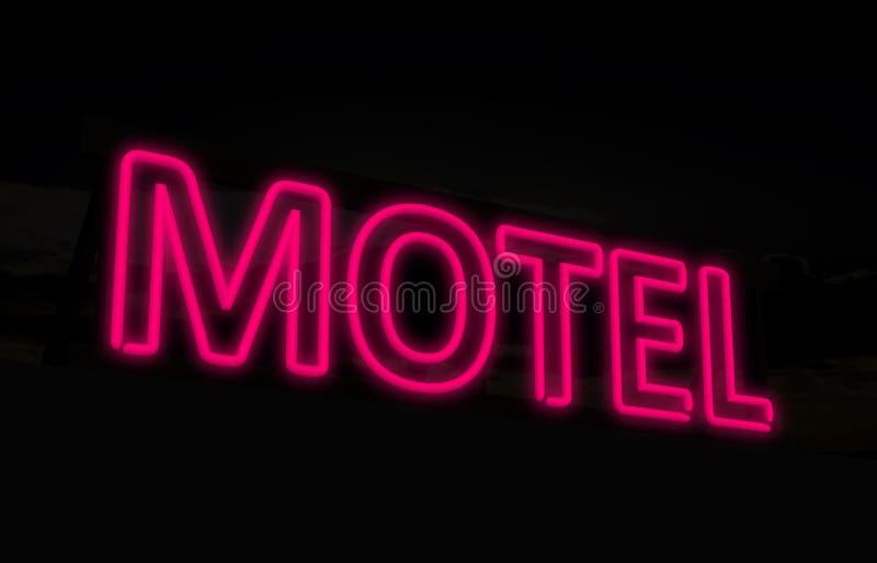 Muestra de neón del motel ilustración del vector
