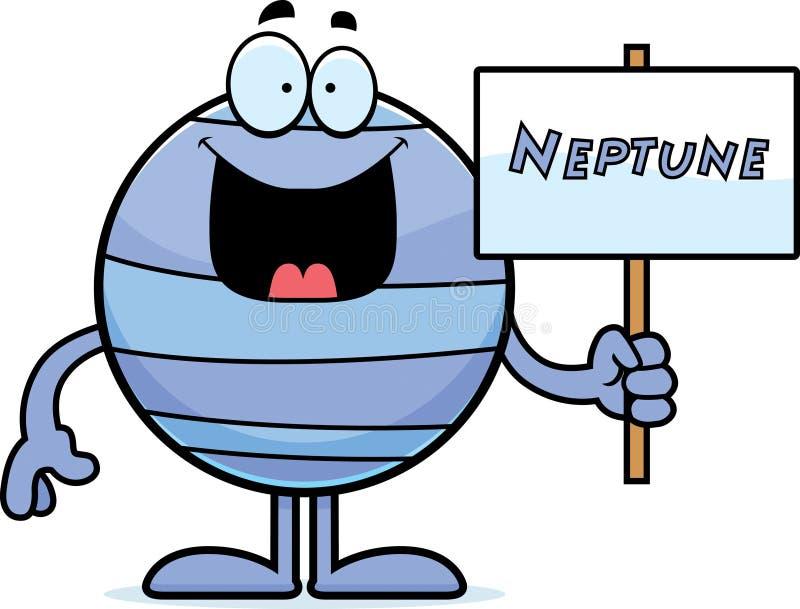 Muestra de Neptuno de la historieta ilustración del vector