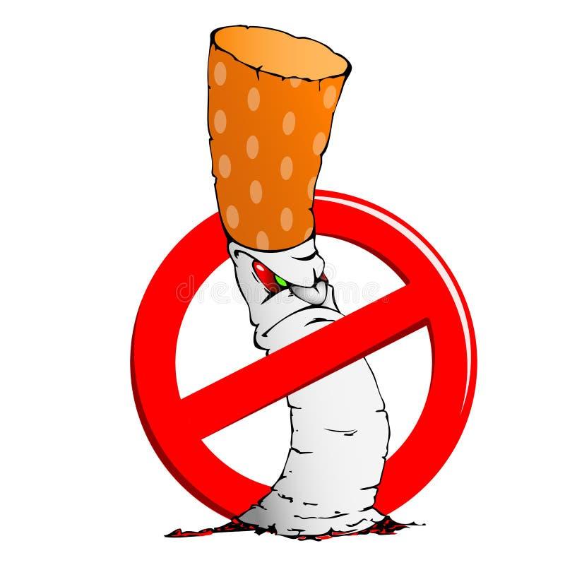 Muestra de no fumadores con un cigarrillo fotografía de archivo libre de regalías