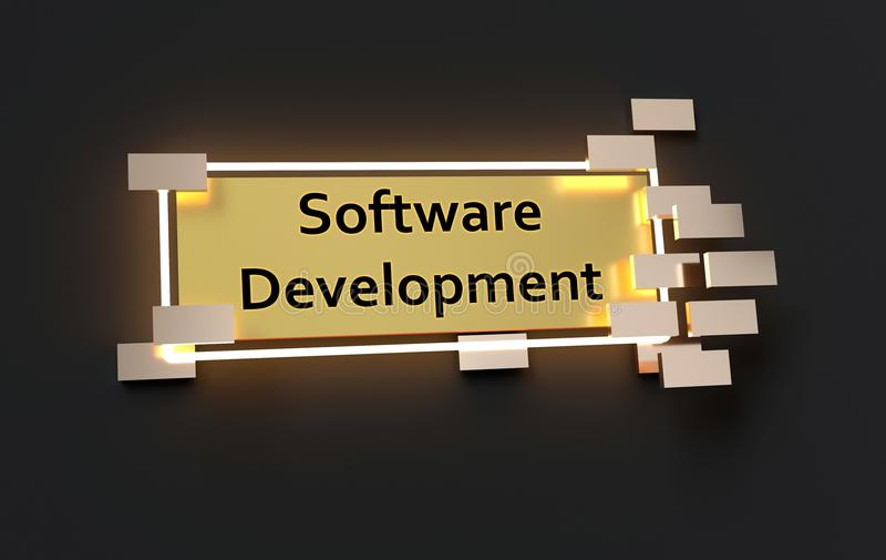 Muestra de oro moderna del desarrollo de programas ilustración del vector