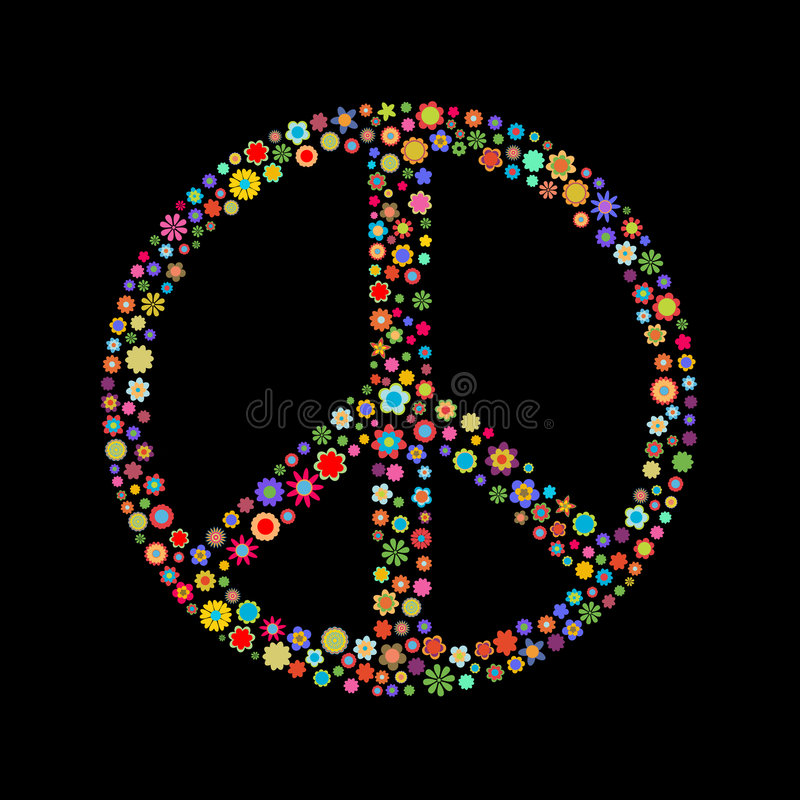 Muestra de paz stock de ilustración