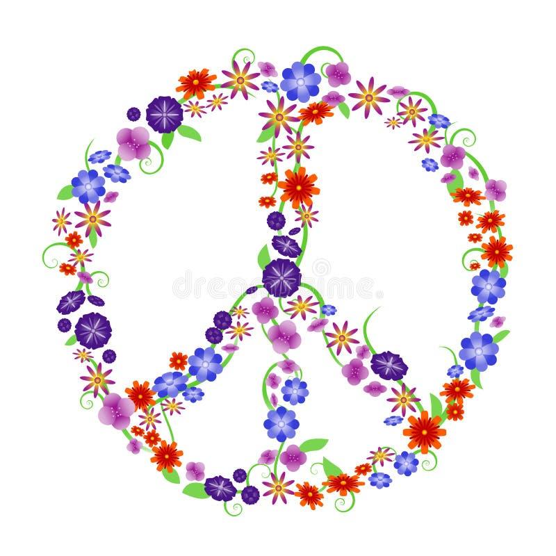 Muestra de paz de la flor stock de ilustración