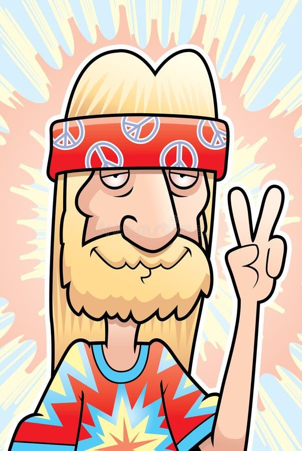 Muestra de paz del Hippie libre illustration