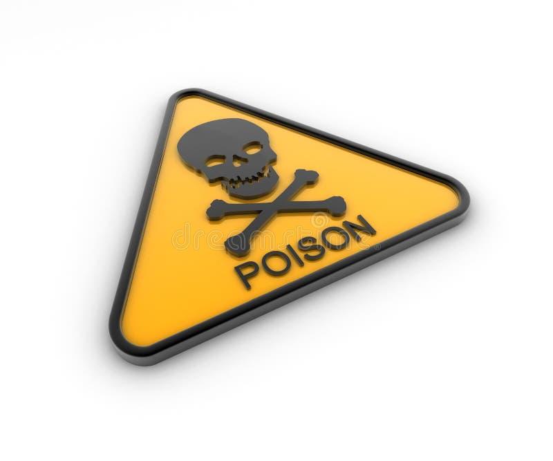 Muestra de peligro del veneno ilustración del vector