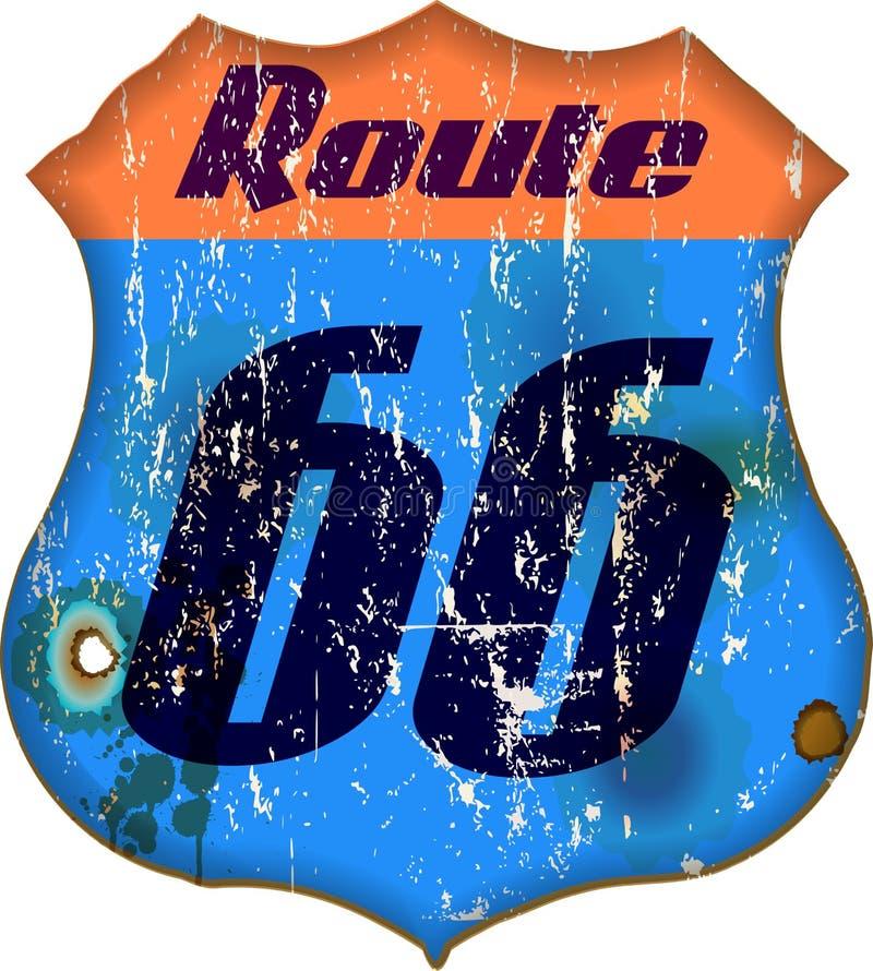 Muestra de Route 66 stock de ilustración