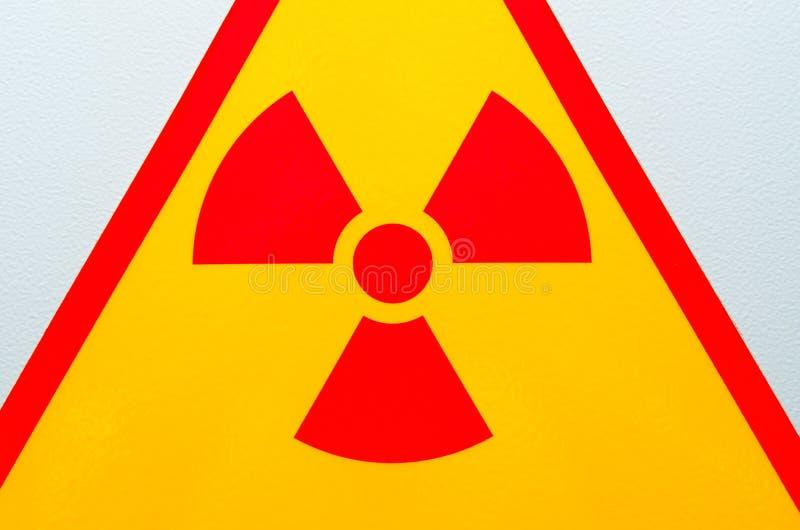 Muestra de seguridad de la radiación foto de archivo
