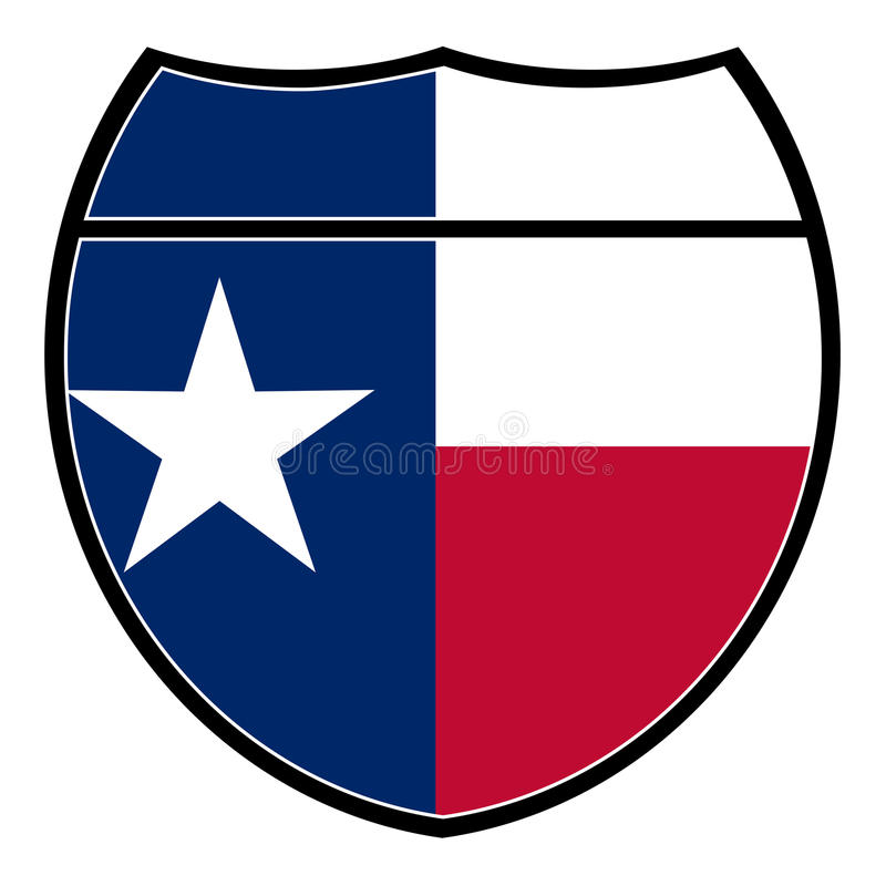 Muestra de Texas Flag In An Interstate libre illustration
