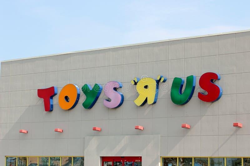 Muestra de Toys R Us fotografía de archivo libre de regalías