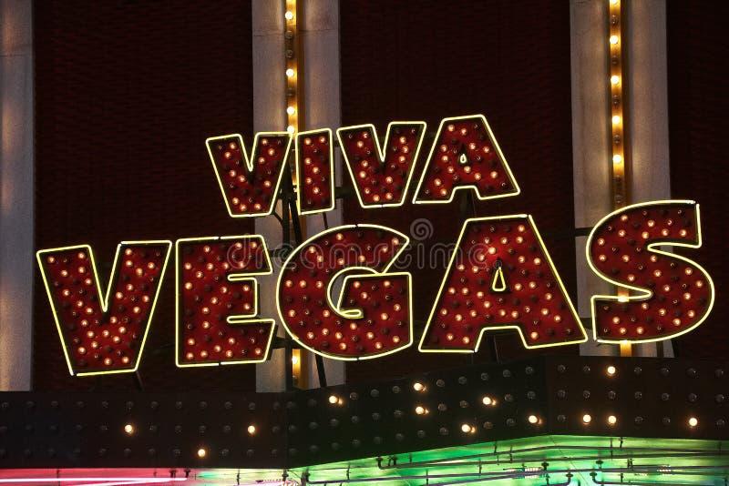 Muestra de Viva Las Vegas en la experiencia de la calle de Fremont en Las Vegas imagenes de archivo