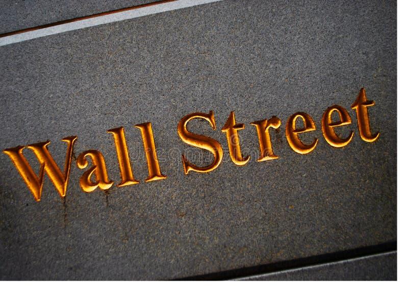 Muestra de Wall Street imagen de archivo libre de regalías