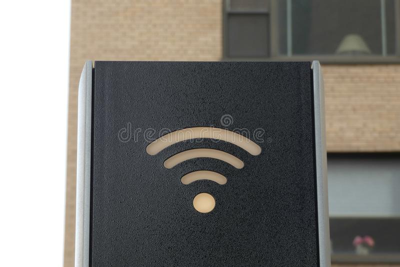 Muestra de Wifi fotos de archivo