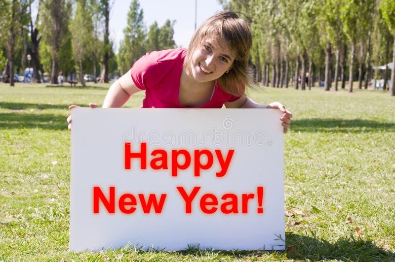 Muestra del Año Nuevo imagen de archivo libre de regalías