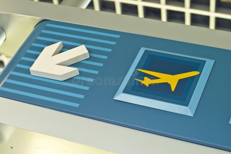 Muestra del aeropuerto imagen de archivo libre de regalías