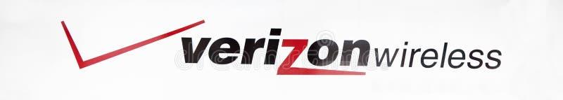 Muestra del almacén de Verizon fotos de archivo libres de regalías