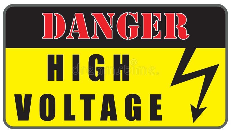 Muestra del alto voltaje del peligro eléctrico ilustración del vector