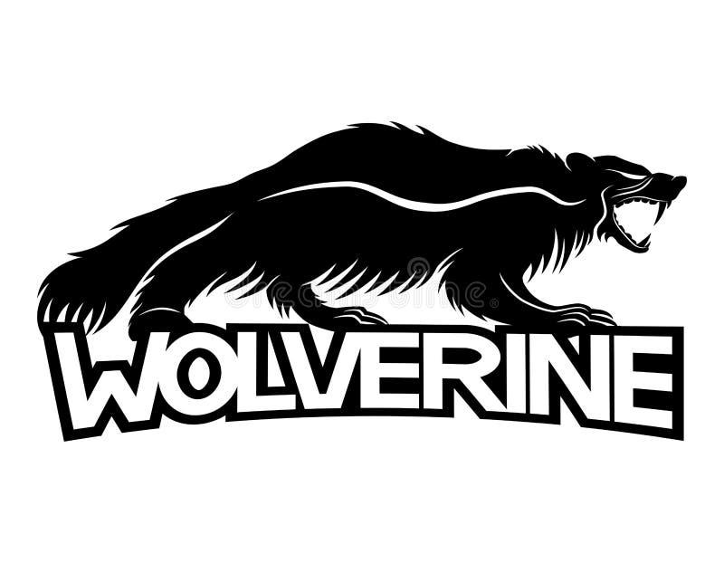 Muestra del animal de Wolverine stock de ilustración