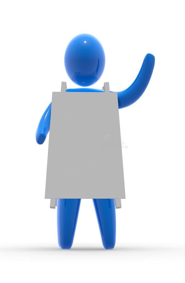 Muestra del anuncio stock de ilustración