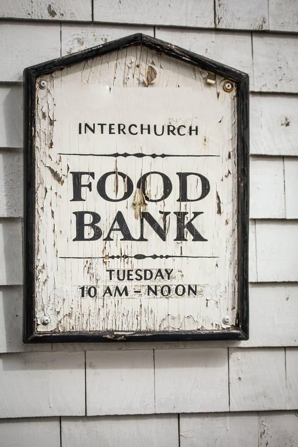 Muestra del banco de alimentos fotografía de archivo libre de regalías