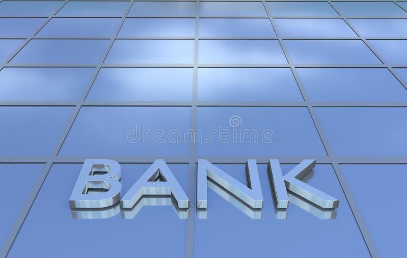 Muestra del banco en el edificio de oficinas ilustración del vector