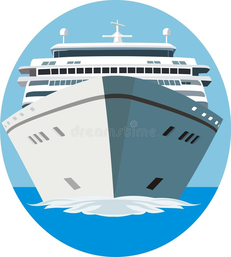 Muestra del barco de cruceros libre illustration