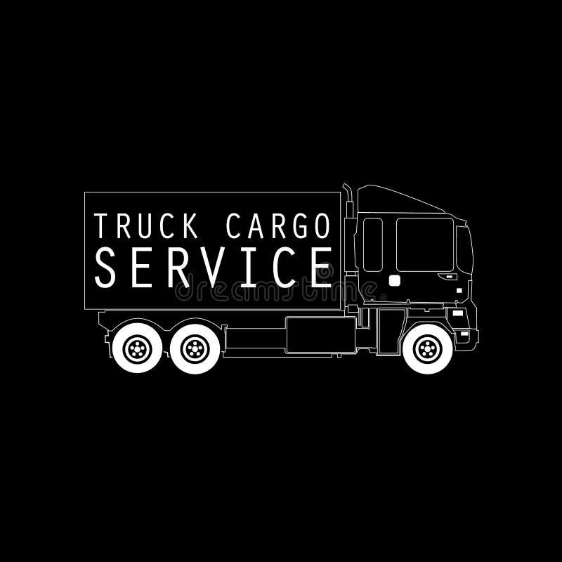 Muestra del camión del cargo de la entrega ilustración del vector