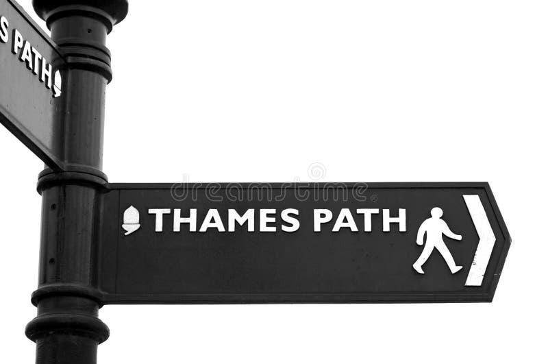 Muestra del camino de Thames fotos de archivo libres de regalías