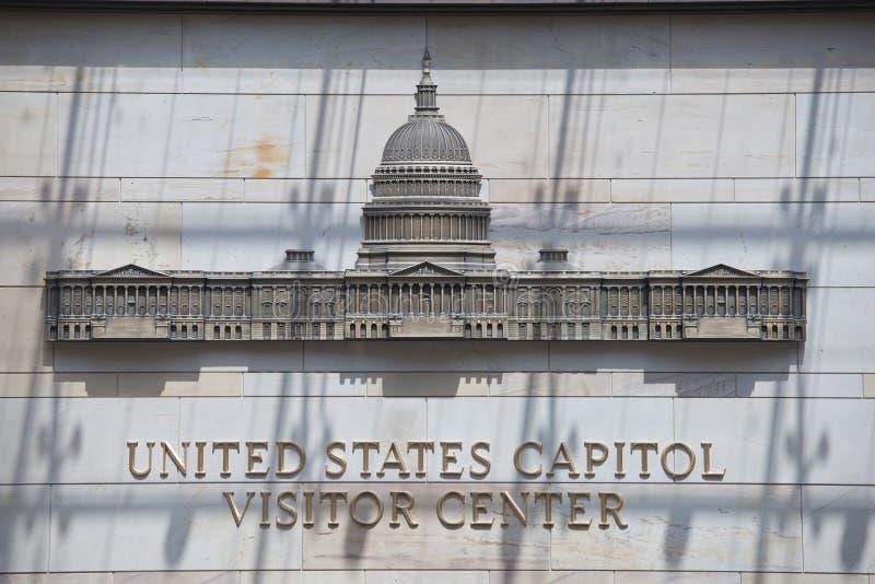 Muestra del centro del visitante del capitol de Washington imagenes de archivo