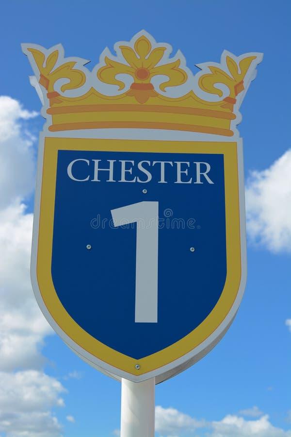 Muestra del circuito de carreras de Chester imagenes de archivo