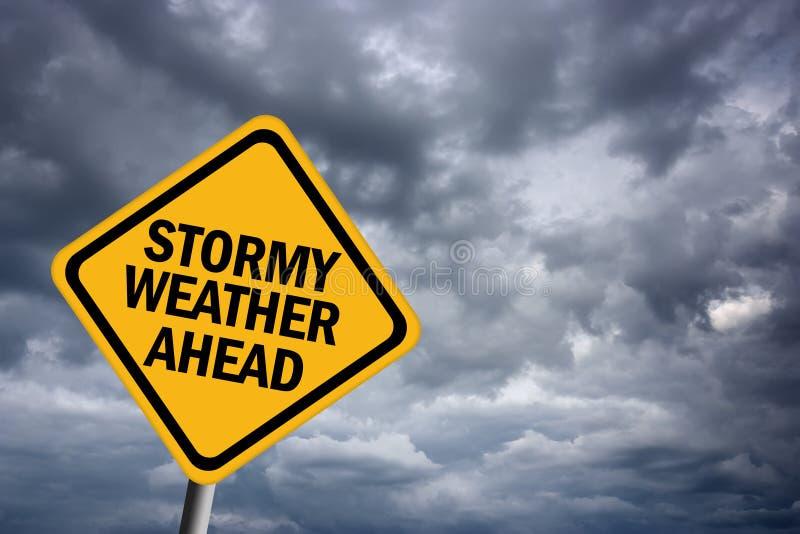 Muestra del clima tempestuoso ilustración del vector