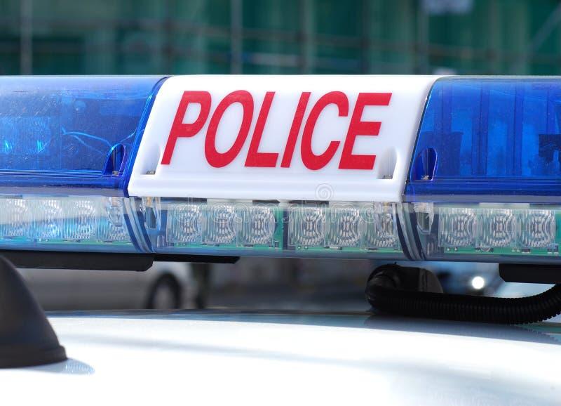 Muestra del coche policía imagen de archivo libre de regalías