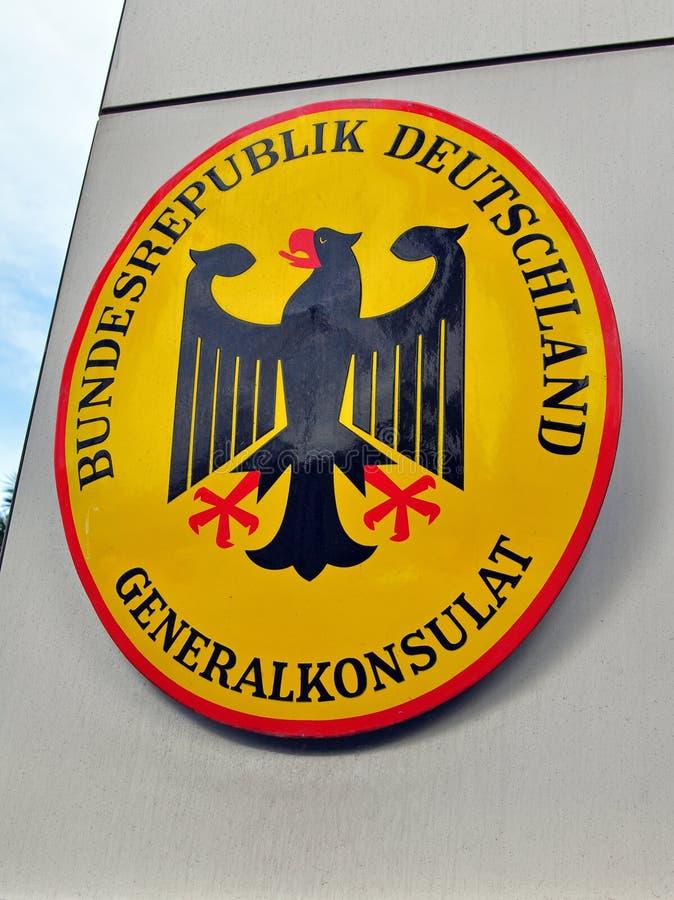 Muestra del consulado de Alemania foto de archivo libre de regalías