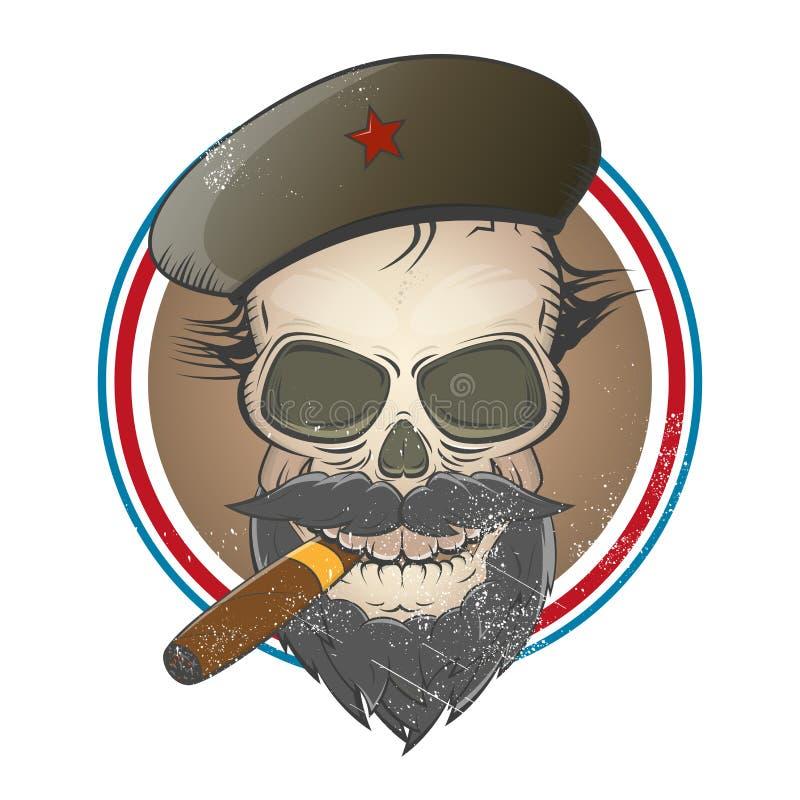 Muestra del cráneo de la revolución ilustración del vector