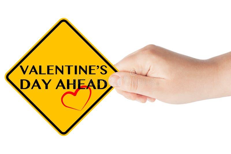 Muestra del día de tarjeta del día de San Valentín a continuación foto de archivo libre de regalías