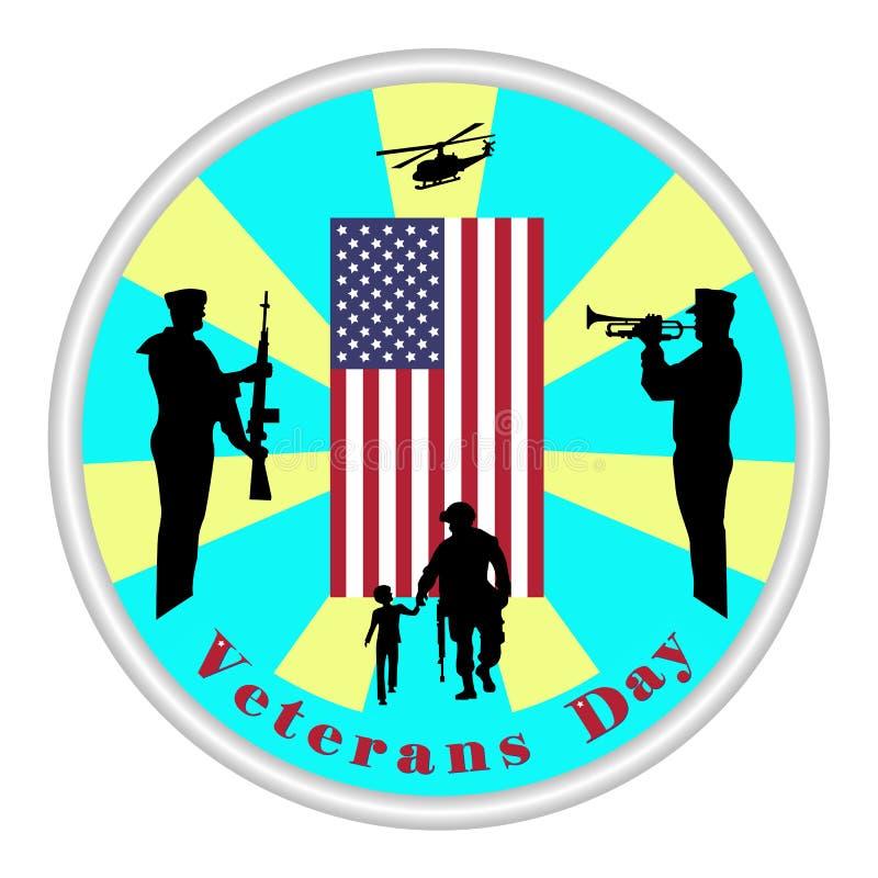 Muestra del día de veteranos Honrando a todos que sirvieron ilustración del vector