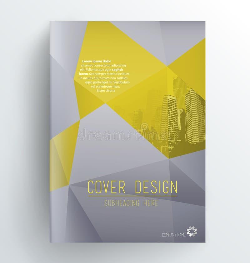 Muestra del diseño de la cubierta ilustración del vector