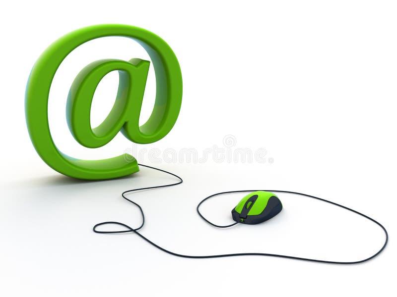 Muestra del email fotografía de archivo libre de regalías
