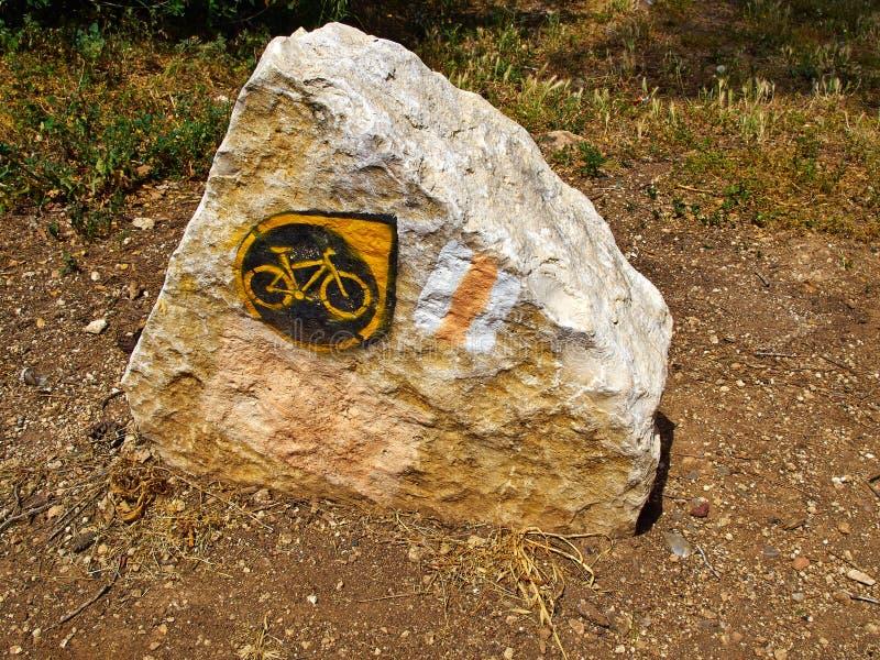 Muestra del ensayo de la bici de montaña imagen de archivo libre de regalías