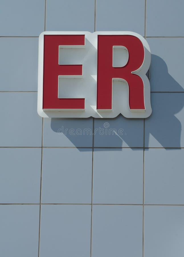 Muestra del ER fotografía de archivo