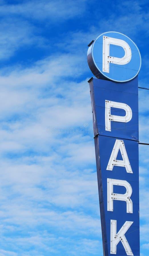 Muestra del estacionamiento imágenes de archivo libres de regalías