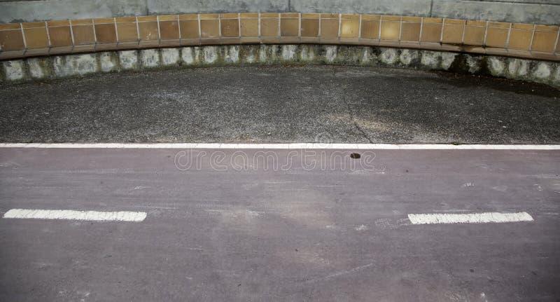Muestra del estacionamiento de la bicicleta fotografía de archivo