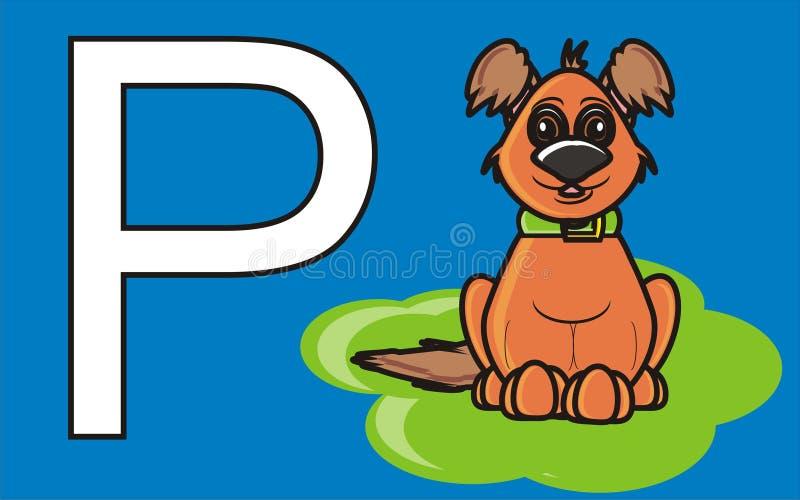 Muestra del estacionamiento para los perros ilustración del vector