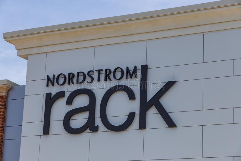 Muestra del estante de Nordstrom fotografía de archivo