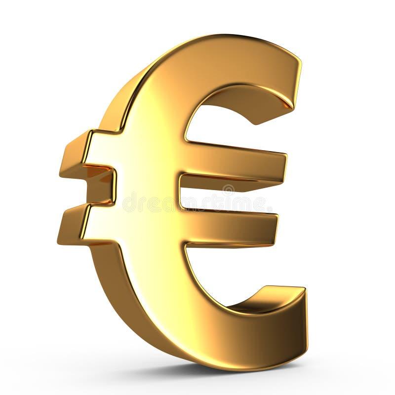 Muestra del euro ilustración del vector