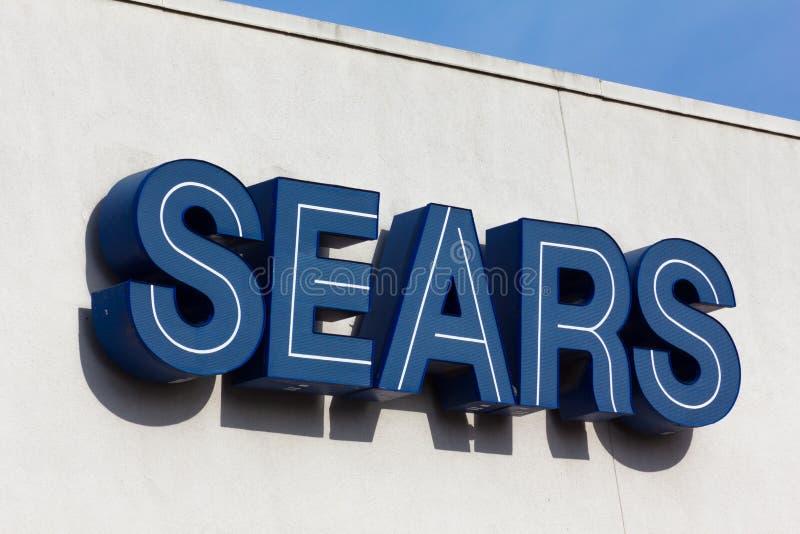 Muestra del exterior de Sears foto de archivo libre de regalías