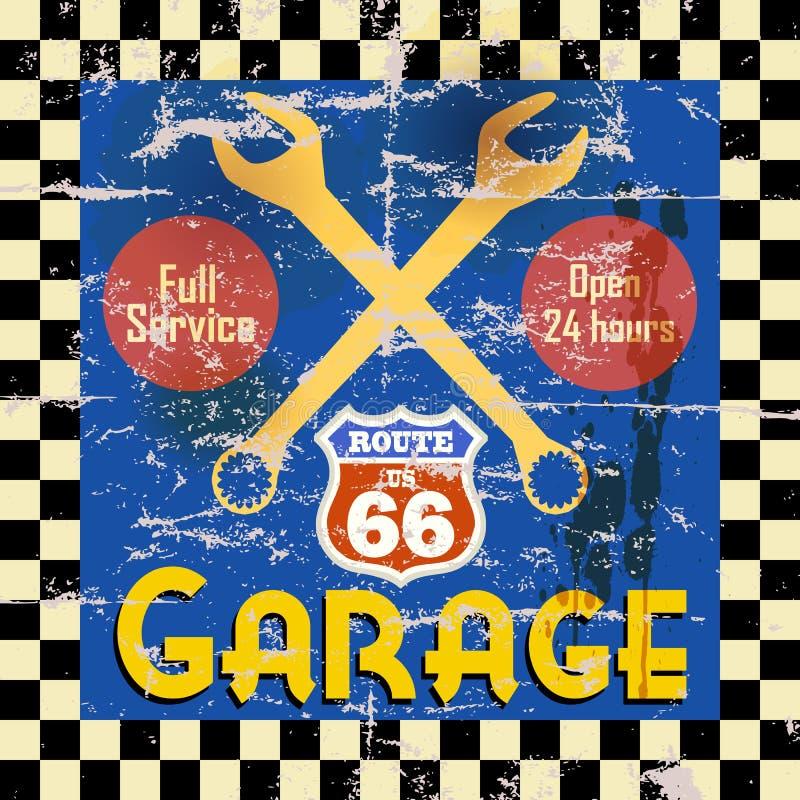 Muestra del garaje del vintage libre illustration
