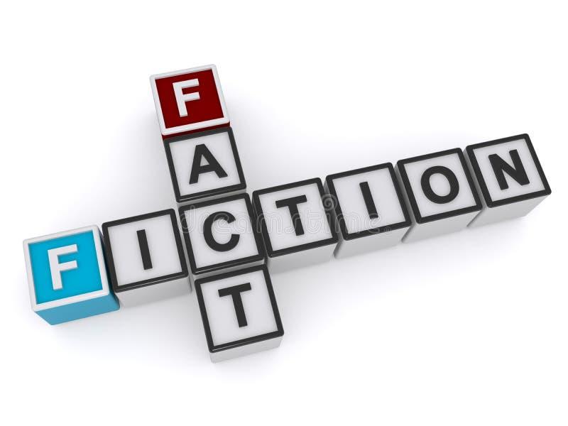 Muestra del hecho o de la ficción ilustración del vector